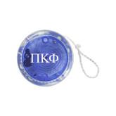 Light Up Blue Yo Yo-Greek Letters
