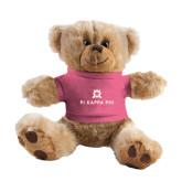 Plush Big Paw 8 1/2 inch Brown Bear w/Pink Shirt-Pi Kappa Phi Stacked
