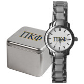 Mens Stainless Steel Fashion Watch-Greek Letters - 2 Color
