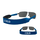 Croakies Royal Wide Band Sunglasses Strap-Greek Letters