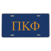 License Plate-Greek Letters - 2 Color