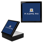 Ebony Black Accessory Box With 6 x 6 Tile-Pi Kappa Phi Stacked