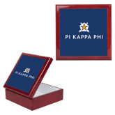 Red Mahogany Accessory Box With 6 x 6 Tile-Pi Kappa Phi Stacked
