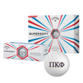 Callaway Supersoft Golf Balls 12/pkg-Greek Letters - 2 Color