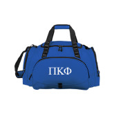 Challenger Team Royal Sport Bag-Greek Letters