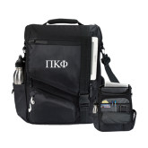 Momentum Black Computer Messenger Bag-Greek Letters