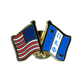 Crossed Flags Lapel Pin-