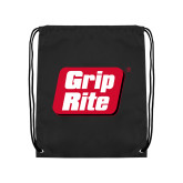 Black Drawstring Backpack-Grip-Rite
