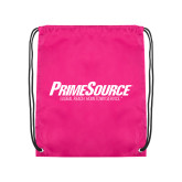 Pink Drawstring Backpack-PrimeSource