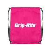 Pink Drawstring Backpack-Grip-Rite