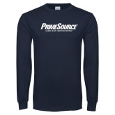 Navy Long Sleeve T Shirt-PrimeSource