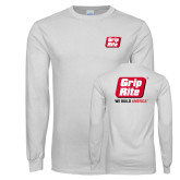 White Long Sleeve T Shirt-Grip-Rite