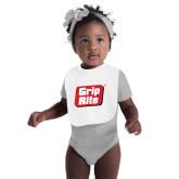 White Baby Bib-Grip-Rite