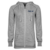 ENZA Ladies Grey/Black Marled Full Zip Hoodie-PrimeSource
