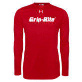 Under Armour Red Long Sleeve Tech Tee-Grip-Rite