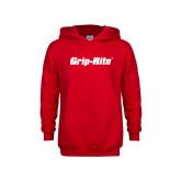 Youth Red Fleece Hoodie-Grip-Rite