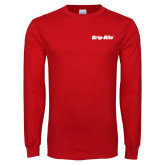 Red Long Sleeve T Shirt-Grip-Rite