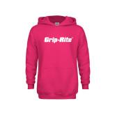 Youth Raspberry Fleece Hoodie-Grip-Rite