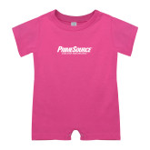 Bubble Gum Pink Infant Romper-PrimeSource