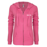 ENZA Ladies Hot Pink Light Weight Fleece Full Zip Hoodie-Grip-Rite