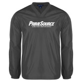 V Neck Charcoal Raglan Windshirt-PrimeSource