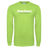 Lime Green Long Sleeve T Shirt-PrimeSource