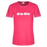 Ladies Performance Hot Pink Tee-Grip-Rite