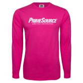 Cyber Pink Long Sleeve T Shirt-PrimeSource