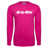 Cyber Pink Long Sleeve T Shirt-Grip-Rite