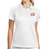 Ladies Nike Dri Fit White Pebble Texture Sport Shirt-Grip-Rite