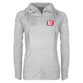Ladies Sport Wick Stretch Full Zip White Jacket-Grip-Rite