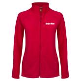 Ladies Fleece Full Zip Red Jacket-Grip-Rite