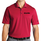 Nike Golf Dri Fit Red Micro Pique Polo-Grip-Rite