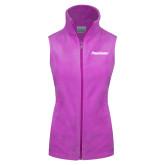 Columbia Ladies Full Zip Lilac Fleece Vest-PrimeSource