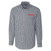 Cutter & Buck Charcoal Stretch Gingham Long Sleeve Shirt-Grip-Rite
