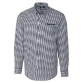 Cutter & Buck Charcoal Stretch Gingham Long Sleeve Shirt-PrimeSource