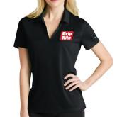 Ladies Nike Golf Dri Fit Black Micro Pique Polo-Grip-Rite