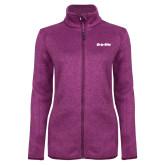 Dark Pink Heather Ladies Fleece Jacket-Grip-Rite