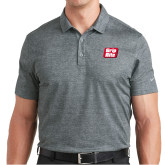 Nike Dri Fit Charcoal Crosshatch Polo-Grip-Rite