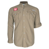 Columbia Bahama II Khaki Long Sleeve Shirt-Grip-Rite