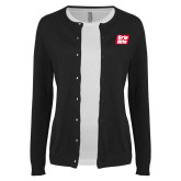 Ladies Black Cardigan-Grip-Rite