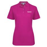 Ladies Easycare Tropical Pink Pique Polo-PrimeSource
