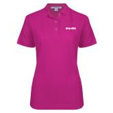 Ladies Easycare Tropical Pink Pique Polo-Grip-Rite