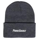 Grey Knit Beanie w/Cuff-PrimeSource