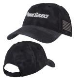 Kryptek Typhon Black U.S. Flag Hat-PrimeSource
