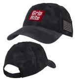 Kryptek Typhon Black U.S. Flag Hat-Grip-Rite