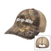 Realtree Xtra Black/Khaki Mesh Back Unstructured Hat-Grip-Rite