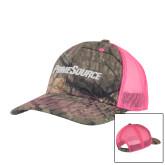 Mossy Oak Camo/Neon Pink Structured Hat-PrimeSource