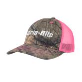 Mossy Oak Camo/Neon Pink Structured Hat-Grip-Rite