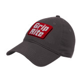 Charcoal Twill Unstructured Low Profile Hat-Grip-Rite